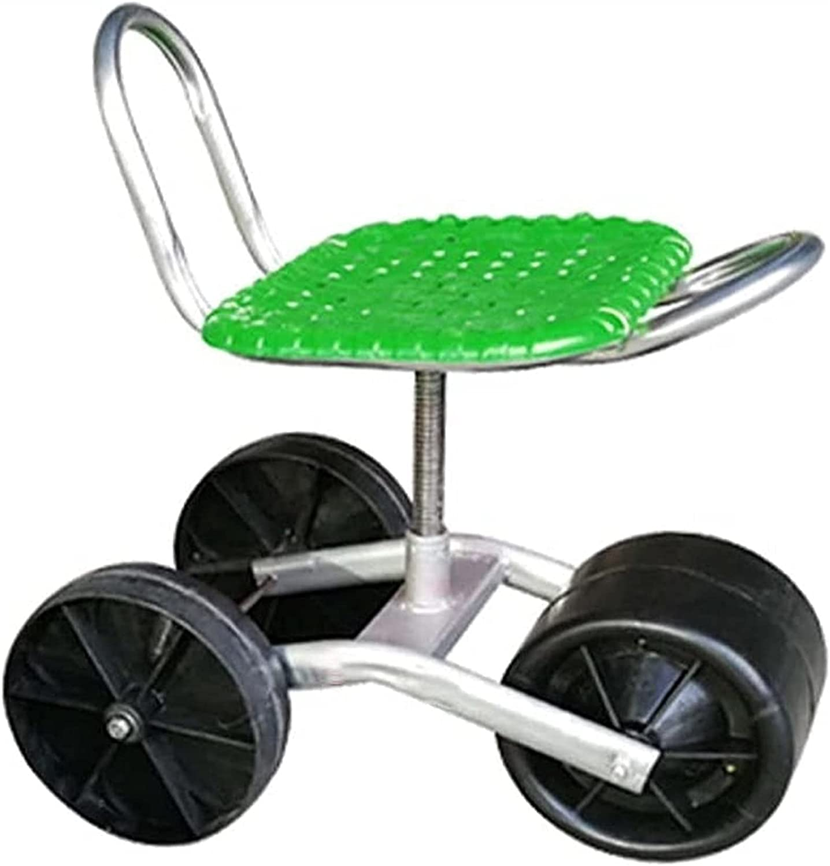 XiuLi Rolling Gardening Stool Cart Swi Garden 4-Wheel OFFicial Workseat 2021new shipping free