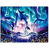 Not Applicable Throw Blanket Mantas De Sofá Blue Sea World Coral Dolphin Manta...