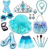 Tacobear Princesa Disfraz Joyas Accesorios Frozen Kit de Maquillaje Niñas con Zapatos Princesa Corona Bolso Sombrero Tutu Princesa Joyas Juguete de Maquillaje Regalo para Niñas 3 4 5 6 7 8 9 años