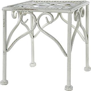 Vacchetti S.p.A Table colonne en métal blanc 20 x 20 x 21 cm