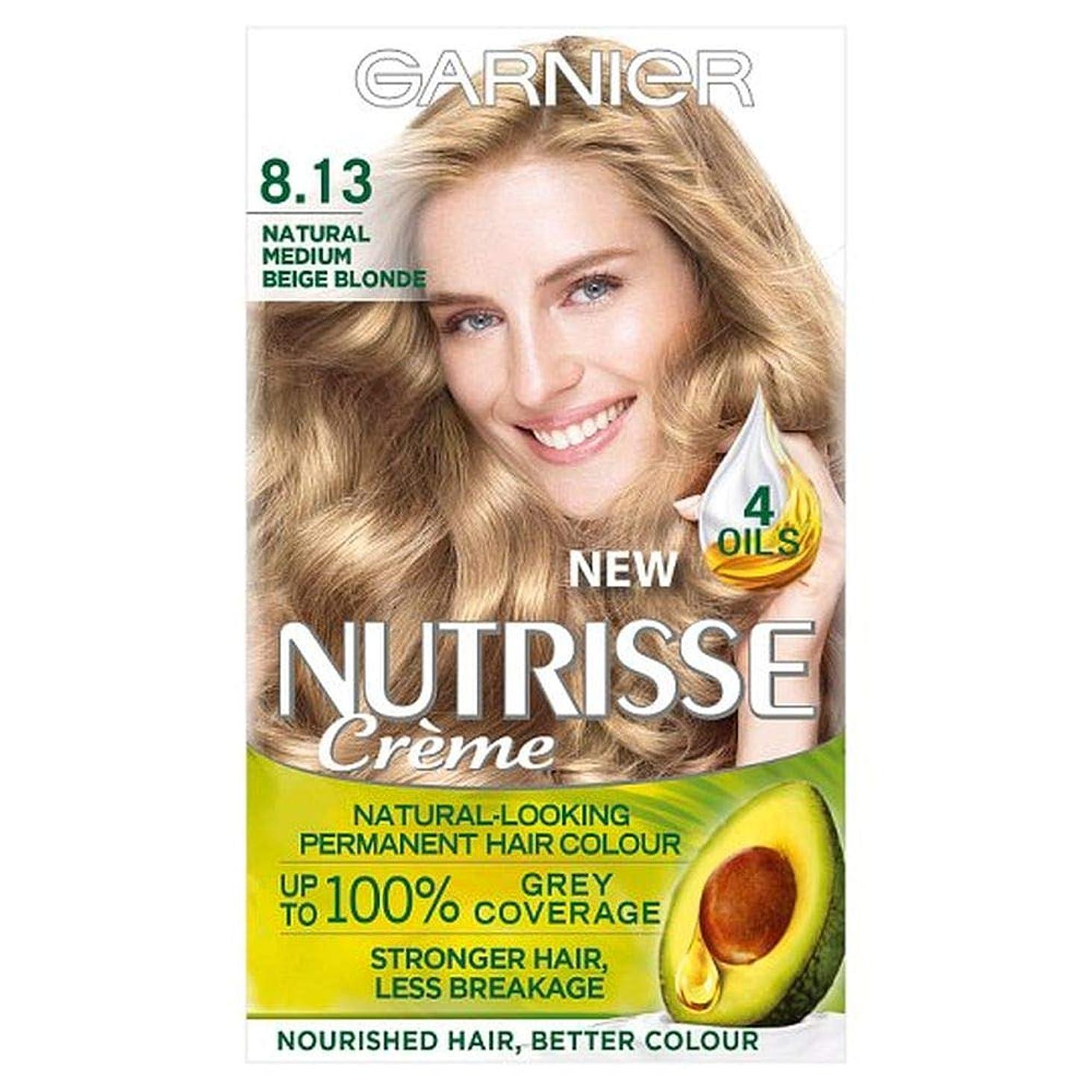 ファントム予測テーマ[Garnier ] 8.13メディアベージュブロンド永久染毛剤Nutrisseガルニエ - Garnier Nutrisse 8.13 Medium Beige Blonde Permanent Hair Dye [並行輸入品]