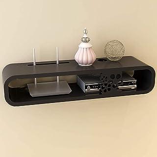 رف معلق على الحائط قوس/حامل/حامل لجهاز توجيه WiFi صندوق التلفزيون مجموعة صندوق علوي مكبر صوت جها,黒