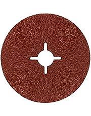 Bosch 2 609 256 248 - Juego de discos lijadores de fibra de 12 piezas para amoladora angular, corindón