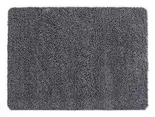 andiamo Schmutzfangmatte Sauberlaufmatte Fußmatte - Indoor/Outdoor Matte - waschbar, in 4 Farben erhältlich, Farbe:Grau, Größe:50 x 80 cm