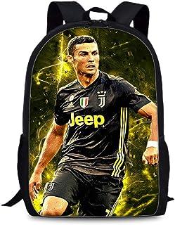 2 St/ück ULIIM Kinder Cristiano Ronaldo Rucks/äcke Mode Kinder Schultasche Top Fu/ßb/älle Sterne Jungen M/ädchen Hohe Kapazit/ät Leinwand Reise Schulranzen