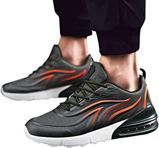 Men's Running Shoes Flying Traveling Hoes Leisure Sports Shoes Lace-up Breathable Sports Shoes Walking Sneakers