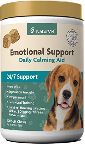 new arrival NaturVet Emotional Support Daily Calming outlet online sale Aid Dog popular Supplement - Helps Promote 24/7 Normal, Calm Behavior - for Dog Stress, Nervousness, Separation, Unwanted Behavior - 120ct Soft Chews outlet online sale