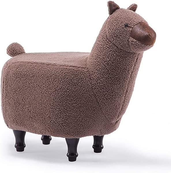 Carl Artbay Wooden Footstool Children S Cute Animal Alpaca Creative Designer Furniture Cartoon Lamb Footstool Creative Children S Home Color Brown