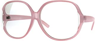 Womens Oversize Exposed Lens Butterfly Granny Plastic...
