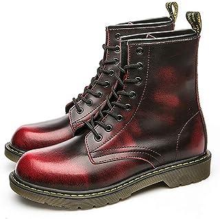 8743cbcaddc3e2 XIGUAFR Chaussure Bottes Martin en Cuir Haute Étanche pour Homme Automne  Printemps Bottes Militaire a Lacet