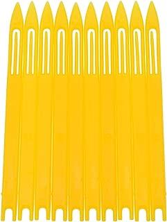 Lychee Plastic Fishermen Fishing Net Repair Netting Needle Shuttles Fish Tackle 10Pcs Yellow