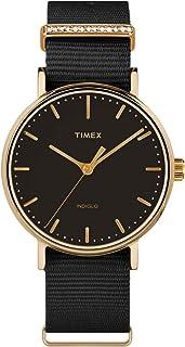 acc5ebdef Timex Fairfield Crystal Bar Black Dial Canvas Strap Ladies Watch TW2R49200