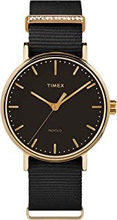 Timex Womens Analogue Quartz Watch Fairfield Women'S Crystal