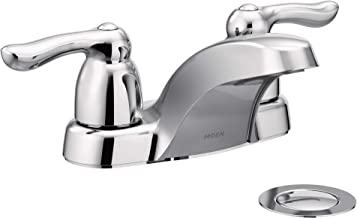 Moen 4925BC Chateau Two-Handle Low Arc Bathroom Faucet, Brushed Chrome
