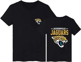 Men's O-Neck Short Sleeve 3D Digital Print Jacksonville Jaguars Couple's Black Summer T-Shirts