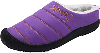 Womens Mens Winter Slippers,QueenMM Comfort Memory Foam Slippers Warm Indoor Outdoor House Shoes