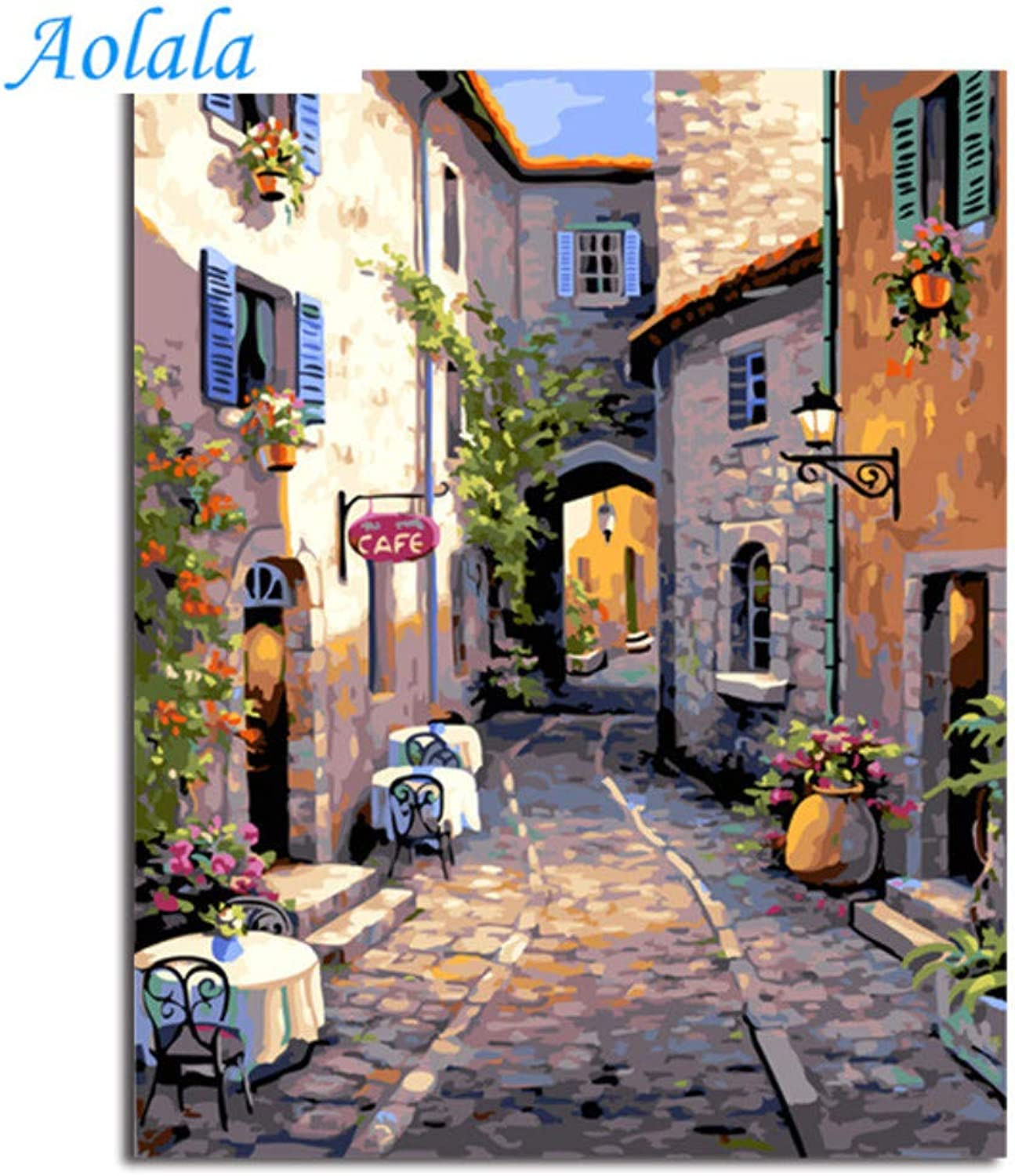 Oil Painting Picture Paintng by Numbers Handpainted Canvas Painting Home Decor for Living Room,60x75cm