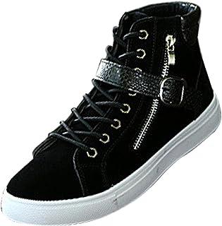 Chaussure Montante Mode Homme Baskets Sneakers à Lacets Bottine de Style