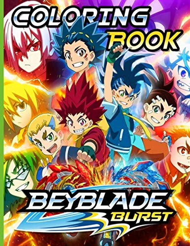 Beyblade Coloring Book: Coloring Books For Adults Beyblade Burst With Crayons