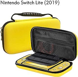 Switch lite ケース Nintendo Switch lite カバー ニンテンドースイッチライト収納バッグ 保護 任天堂 耐衝撃 落下防止 擦り傷防止 小物収納 軽量 防水 防汚 防塵 大容量 持ち運び便利 全面保護(黄色)