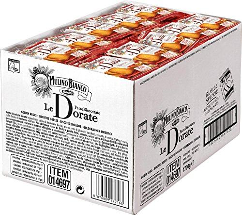 Mulino Bianco Fette Biscottate le Dorate - Pacco da 100 Pezzi (1700 gr)