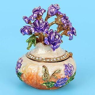 SONGYU Boîte d'organisateur de Bijoux, boîtes à Bijoux Debout de boîte à Bijoux, Organisateur de Bijoux d'ornement d'artis...