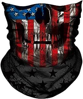 AXBXCX 3D Skull Skeleton Neck Gaiter Face Mask Halloween