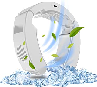ネッククーラー 最新冷却式 半導体冷却プレート USB給電式 瞬間冷却 折りたたみ式 サイズ調整可能 静音 夏用 冷房 ネック冷却クーラー スポーツ/通勤/通学/ショッピング/アウトドア/農作業/屋外作業/熱中症対策 白