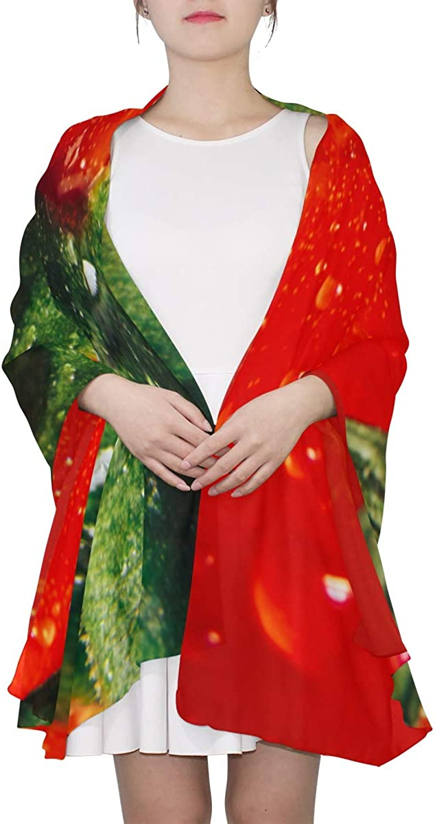 Delicious Red Tomatoes Unique Fashion Scarf For Women Lightweight Fashion Fall Winter Print Scarves Shawl Wraps Gifts For Early Spring