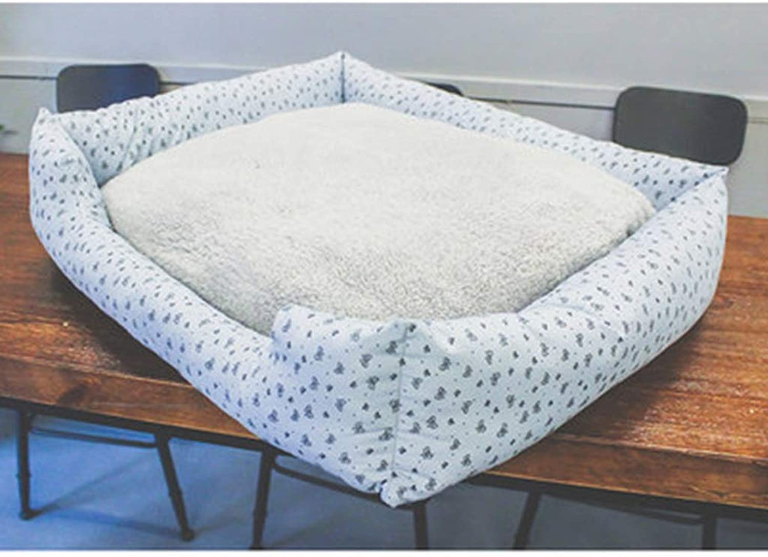 Dogs Beds Furniture Bed Blankets Dog Bed, Mattress, Pet Nest, Cat's Nest, Fashion, Washable, Cat House, Pet Supplies, Pet Bed, Doghouse, Dog House, Plush (color   bluee, Size   XL)
