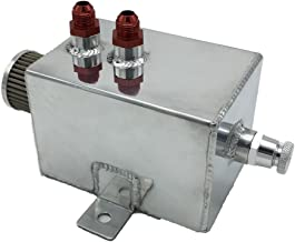 HotRod99 2L Aluminum Breather Catch Tank with Breather Filter and AN8 Fittings Oil Catch Can