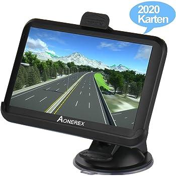 Aonerex Navigation f/ür Auto LKW PKW KFZ 5 Zoll Touchscreen GPS Navi 8 GB 256 MB Navigationsger/ät mit 2020 Europa Karte Lebenslang kostenlos Kartenupdate