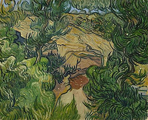 PLKIJ Puzzle Personalizzabili da 1000 pezzi Vincent Van Gogh-Ingresso a una cava-Gioco di puzzle per adulti e adolescenti Giocattoli Regalo Decorazione per la casa Giocattoli fai da te per 75x50 cm
