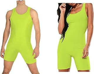 RSVH Mens & Womens One-Piece Sleeveless Solid Wrestling Singlet Tight Vest Bodysuit