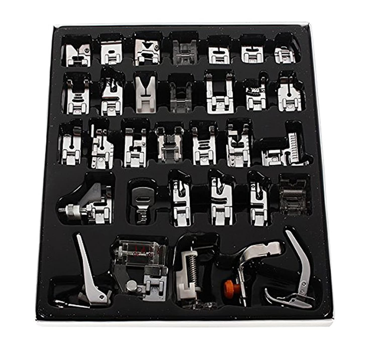 32Pcs Sewing Machine Presser Foot Set For Janome Brother Singer Domestic Part US