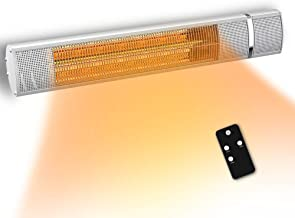 PATIOBOSS Electric Patio Heater, Infrared Heater for 3 Seconds Instant Warm, Silent Work, Electric Outdoor Heater with Gol...