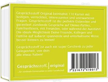Gesprächsstoff Karten mit lustig verrückten unerwarteten Fragen das Original !!