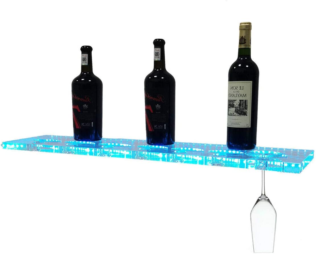 NICCOO Wall Mounted LED Lighted Liquor Bottle El Paso Mall I Outlet SALE Glass 31 Display