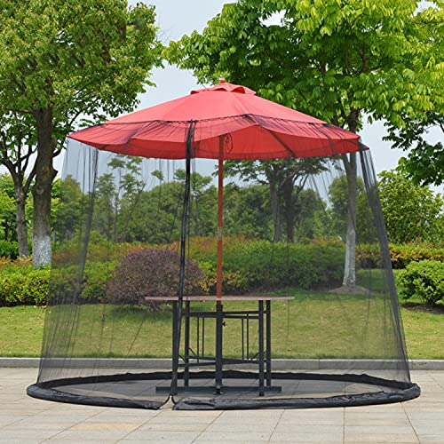 QYC Mosquito Net, Parasol Mosquito Net, Garden Parasol Mosquito Net, Mosquito Net, for Indoor, Outdoor, Gazebo, Insect Protection Use, Inject Water To Prevent Wind and Fix, Collapsible