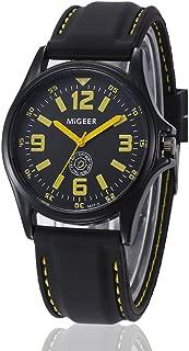 Mens Analog Quartz Watch On Clearance,Fashion Silicone Strap Sport Analog Quartz Hours Dress Wrist Watch Bracelet Gift Watches
