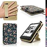 igadgitz U3697 Folio Funda PU Cuero Compatible con Kobo Touch 2, Kobo Glo HD 2015, Kobo Aura & Kobo Aura Edition 2 Cubierta Cover con Soporte & Correa de Mano
