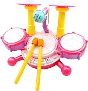 NUOBESTY Kids Drum Electronic Piano Keyboard and Xylophone 3 in 1 Toys without Battery