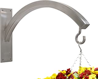 Hangtec Arch HT-3A09 - Stainless Steel Bracket for Hanging Baskets, Topiary Balls, Bird feeders.
