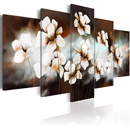 5PCS Modern Flower Waterproof Canvas Painting Wall Art Home Decor Picture New