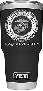 Personalized YETI 30 oz. Stainless Steel Tumbler, United States Marine Corps, USMC, Personalized Laser Engraved - Includes MagSlide Lid
