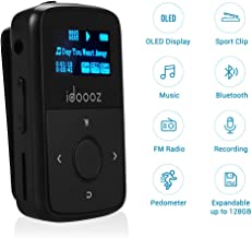 $29 » Mp3 Player,Clip Mp3 Player with Bluetooth,idoooz 8GB U5 Lossless Sound Music Player with FM Radio Voice Recorder for Sport Running,Expandable up to 128GB (Black)