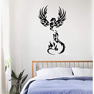 Ofasy Wall Sticker Quote Wall Decal Funny Wallpaper Removable Vinyl Fire Phoenix Fantasy Bird Myth for Kids Room