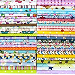 """Material: 100% High Quality Cotton. Material upgraded and the texture is finer. ▶▶NOTE: Shipping from US ! Style: 50 Different Patterns. Each Sheet Size: 8"""" x 8"""" (20cm x 20cm). All fabric squares are trimmed manually which result in some raw edge and..."""