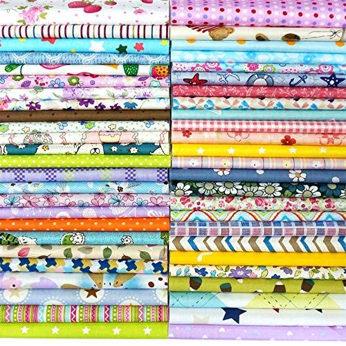 Misscrafts - 50 piezas de tela de algodón para manualidades, 20 x 20 cm, diseño de puntos