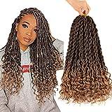 6Pcs/Lot Curly Goddess Faux Locs Crochet Hair...